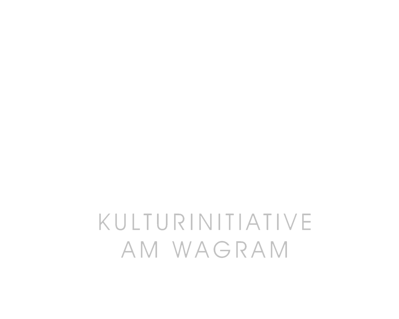 weißer Schriftzug Lösshof - Kulturinitiative am Wagram
