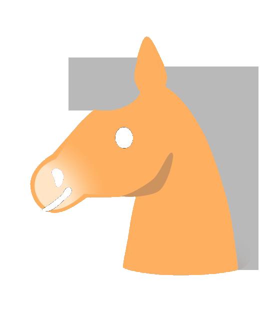 Illustration eines Ponykopfs